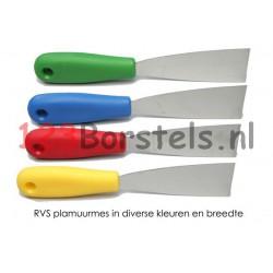 Plamuurmes RVS blad gekleurd kunststof greep welke breedte kiest u