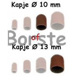 100 stuks SLIJPKOP RONDE TOP  ø 10 of ø 13 mm Kies welke grofte