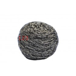 RVS SCHUURSPONS 60 gram per Bol pannenspons