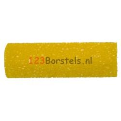 Radiatorrol STRUCTUUR 10 cm geel met gaatjes