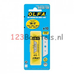 Olfa safety mes SK12 incl. RVS reserve mes