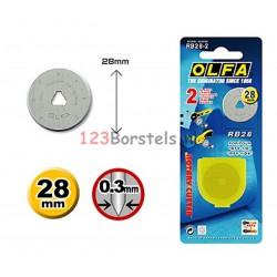 OLFA 2 * Reserve MES Ø 28 RB28 (Ø 28 mm) rolmes