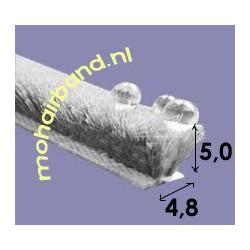 Mohair Grijs, hoog 5 mm , rug 4.8 mm