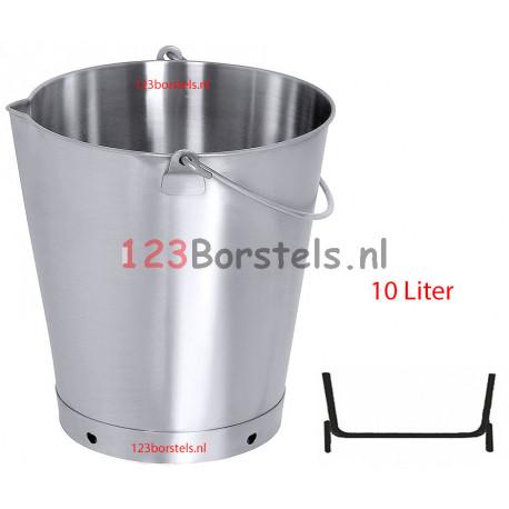 RVS EMMER (20-15-12-10L) met schenktuit