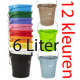 Hygienische emmer 6 liter met maatverdeling en schenktuit