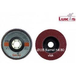 Vlaklamel schijf  ø115 glasfiber kern Korrel NK 80, asgat 22 (50769118)
