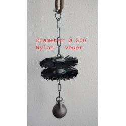 Schoorsteenveegset met kogel Nylon Ø 200