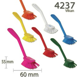 Vikan Hygiene  afwasborstel, medium, klein, 60x255mm  Uw keuze: