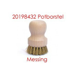 Potborstel messing vulling