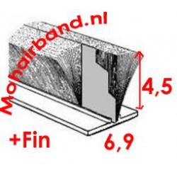 Mohair P6-0454PG Grijs 4½ hoog met waterfin