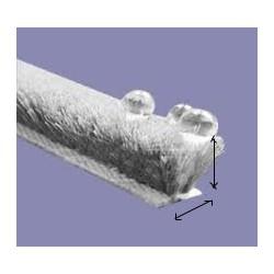 Mohair P6-053PGN Grijs 5 mm hoog, 6,7 rugbreedte