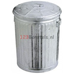 ZINKEN AFVAL - vuilnisbak 54 LITER Ø 430 mm hoogte 560 mm (28489300)