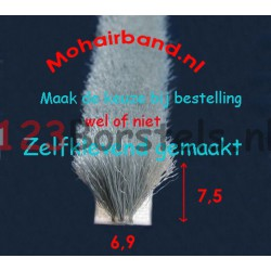 Mohair Grijs 7½ hoogte, rug 6,9