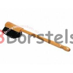 Handstoffer zwart HAAR GELAKT, LANG STEEL 34 CM, totaal 45 cm lang