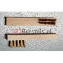 Bougieborstel messing houten handvat 2 rij