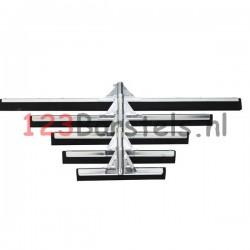 Vloertrekker metaal (gegalvaniseerd) 1 meter rubber mousse