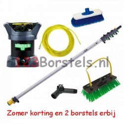 Hydro power set 6 Meter + Di kit + slang en twee borstel