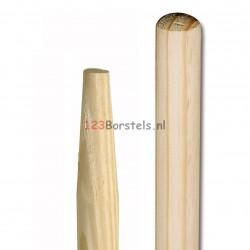 Houten steel 1300 mm Ø 30 mm met scherpe punt