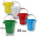 Hygienische emmer 20 liter met maatverdeling en schenktuit