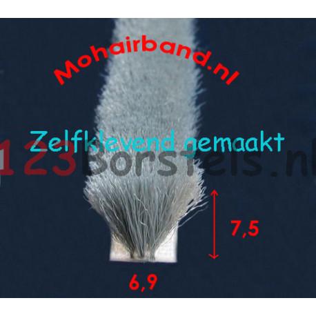 Mohair Grijs, hoog 7½ , rug 6.9 zelfklevend rug (P6-075PGZ)