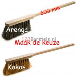 Handstoffer Kokos of Arenga extra lange steel (600 mm) (maak de keuze)