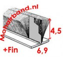 Mohair Grijs, hoog 4½ , rug 6.9 + fin (P6-0454PG)