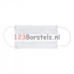 Mondkapje met elastiek 3 lgs - Surgical Wit
