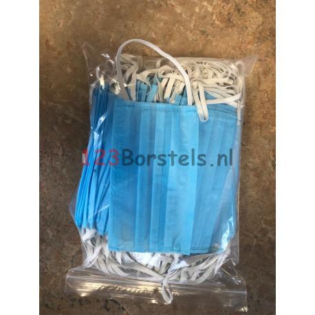 Mondkapje met elastiek 3 lgs - Premium