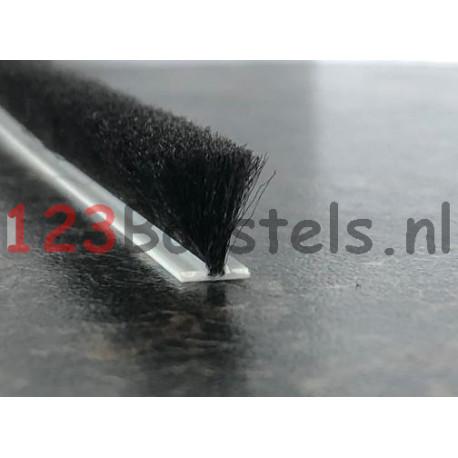 Mohairband Zwart, hoog 15 , rug 4.8 (P4-153PGN) (keuze)