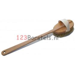 20198405 Badborstel haar houten steel (borstel los te halen van steel)