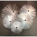Borstel Nylon voor Glasvezel stang. (diverse diameters)