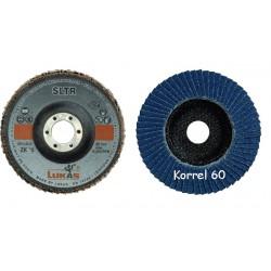 Vlaklamel schijf  ø125 glasfiber kern Korrel ZK 60 asgat 22 (50769133)