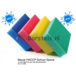 HACCP kleur spons groen (verpakt per 4 stuks)