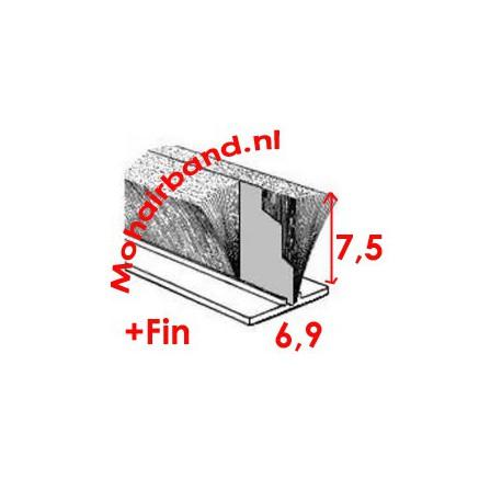 Mohair P6-0754PG Grijs 7½ hoog met waterfin